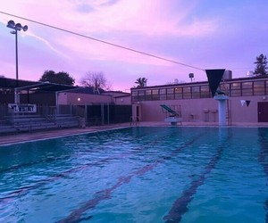 pool, sky, and grunge image