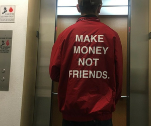 money, red, and grunge image