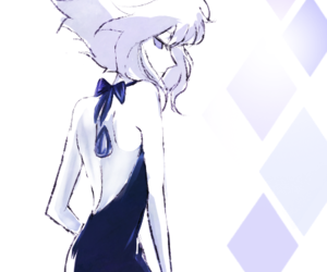 art, blue, and dress image