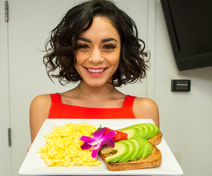 curly hair, smile, and vanessa hudgens image