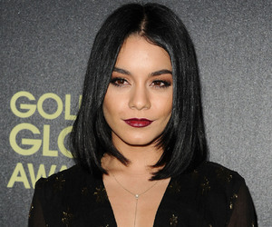black hair, dark lipstick, and straight hair image
