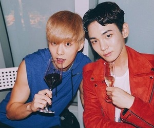 xiumin, key, and exo image