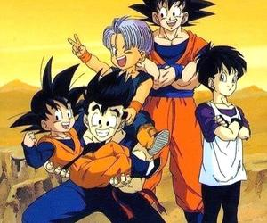 trunks, goku, and gohan image