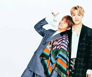 v, bts, and jhope image