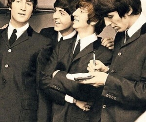 beatles, Paul McCartney, and george harrison image