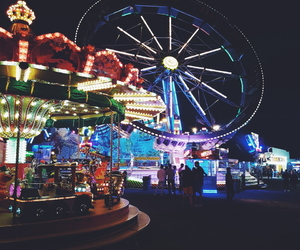 boy, carousel, and colours image