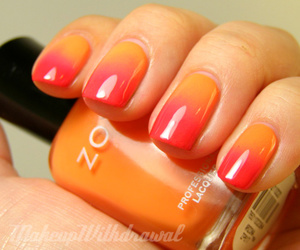 nails, orange, and red image