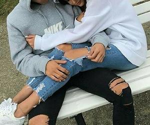 girl, boy, and couple image