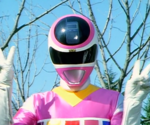 mood, pink, and power ranger image