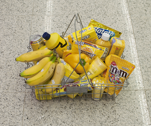 yellow, food, and banana image