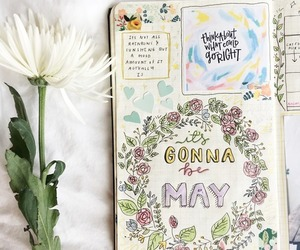 flowers, studyblr, and bullet journal image