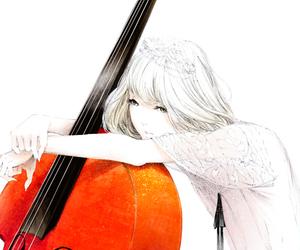anime, girl, and music image