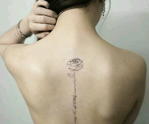 rose, cute, and tatto image