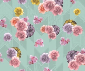 background, floral, and wallpaper image