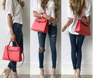 bag, heel, and style image