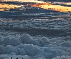 sky, clouds, and mountains image