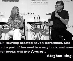 Stephen King, harry potter, and jk rowling image