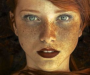 eyes, freckles, and photography image
