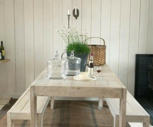 home decor, kitchen table, and farmhouse style image