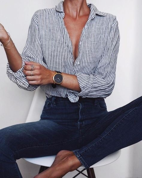 blouse, fashion, and jeans image