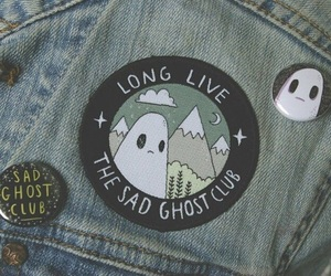 ghost, sad, and grunge image