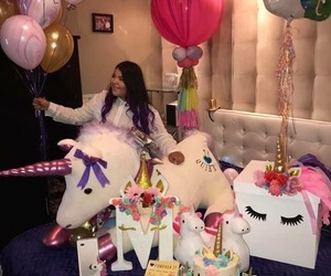 unicorn, party, and pink image