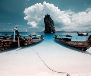 beach, sea, and thailand image