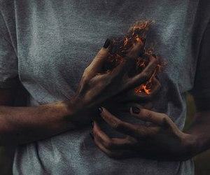 burning, grey, and tumblr image