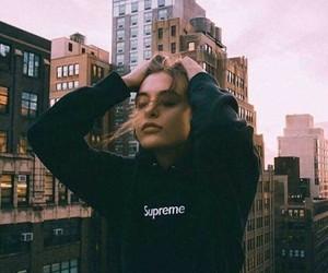 girl, supreme, and city image