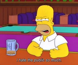 the simpsons, hate, and homer image