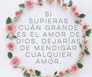 amor, flores, and dios image