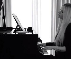 Avril Lavigne, piano, and 2017 image