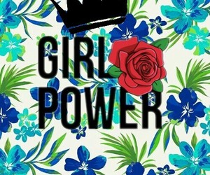 background, crown, and girl power image