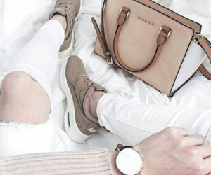 bag, beige, and shoes image