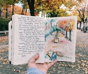 autumn, drawing, and art image