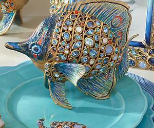 dishes, turquoise, and place setting image