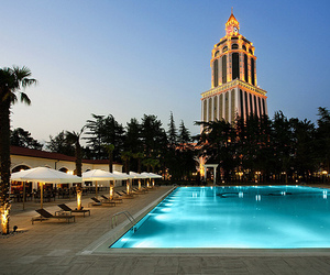 pool, luxury, and hotel image