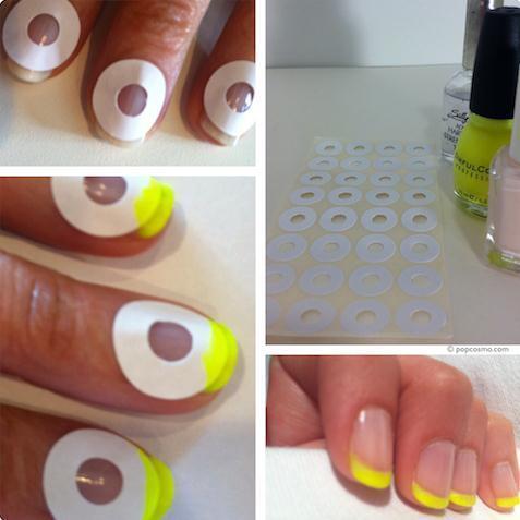 nails, diy, and yellow image