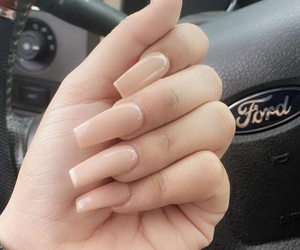 long nails, pale, and Nude image