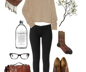 outfit, indie, and oxford shoes image