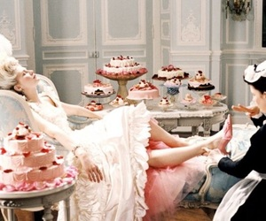 antoinette, pink, and cake image