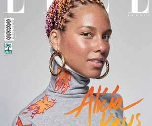 alicia keys, cover, and natural beauty image