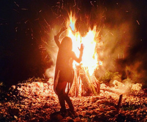 aesthetic, bonfire, and fire image