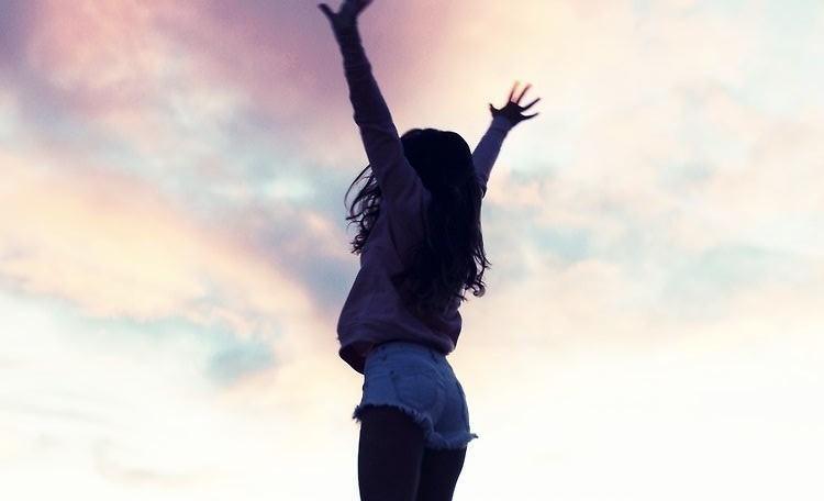 girl, sky, and free image