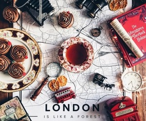london, travel, and tea image