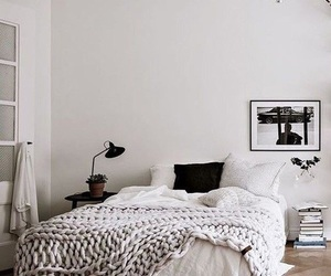 bed, decor, and Scandinavian image