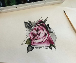 geometry, pink, and rose image