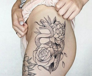 girl, tattoo, and boy image