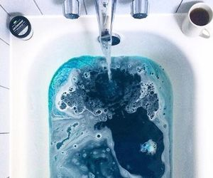 blue, bath, and aesthetic image
