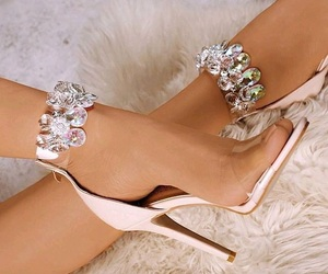 fashion, shoes heels, and pink image